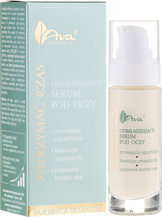 Očné sérum - Ava Laboratorium Stop Time Eye Contour Serum — Obrázky N1