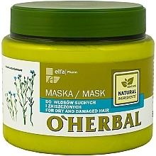 Voňavky, Parfémy, kozmetika Maska pre suché a matné vlasy s ľanovým extraktom - O'Herbal