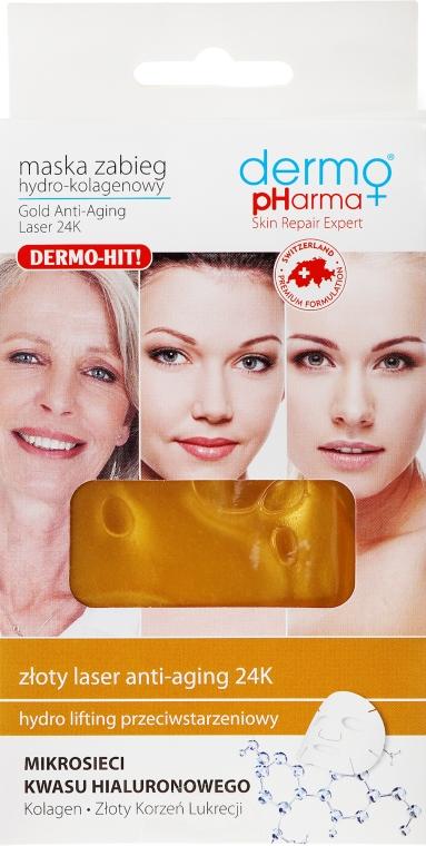 Maska na tvár hydro-kolagénová - Dermo Pharma Gold Anti-Aging Laser 24K