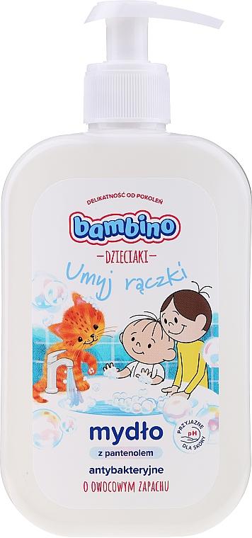 Antibakteriálne mydlo na ruky s panthenolom a ovocnou vôňou - Bambino Family Antibacterial Soap — Obrázky N1