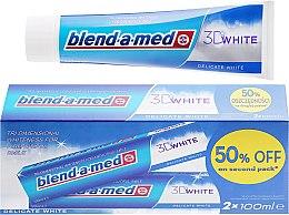 """Voňavky, Parfémy, kozmetika Sada zubnej pasty """"Delikátne bielenie"""" - Blend-a-med 3D White Delicate White Toothpaste"""