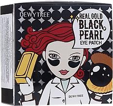 Voňavky, Parfémy, kozmetika Náplasti pod oči so zlatom a čiernymi perlami - Dewytree Real Gold Black Pearls Eye Patch