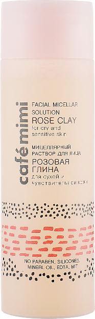 """Micelárny roztok na tvár """"Ružová hlina"""" - Cafe Mimi Facial Micellar Solution Rose Clay"""