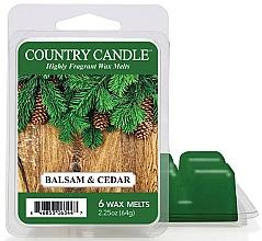 Voňavky, Parfémy, kozmetika Vosk na aromatickú lampu - Country Candle Balsam & Cedar Wax Melts