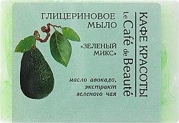 """Voňavky, Parfémy, kozmetika Glycerínové mydlo """"Zelený mix"""" - Le Cafe de Beaute Glycerin Soap"""