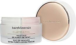 Voňavky, Parfémy, kozmetika Čistiaca a hydratačná maska na tvár s dvojitým účinkom - Bare Escentuals Bare Minerals Claymates Be Pure & Be Dewy Mask Duo