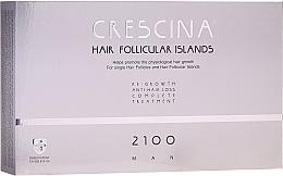 Voňavky, Parfémy, kozmetika Komplex proti vypadávaniu vlasov pre mužov 2100 - Labo Crescina Hair Follicular Island Re-Growth Anti-Hair Loss Complete Treatment 2100 Man