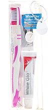 Voňavky, Parfémy, kozmetika Cestovná sada pre ústnu hygienu, ružová - White Glo Travel Pack (t/paste/24g + t/brush/1 + t/pick/8)