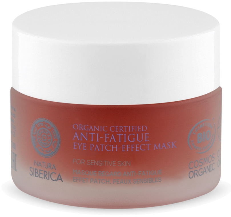 Maska proti únave pokožky očného okolia - Natura Siberica Organic Certified Anti-Fatigue Eye Patch-Effect Mask
