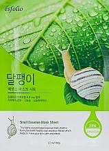 Voňavky, Parfémy, kozmetika Textilná maska s extraktom zo slimačieho slizu - Esfolio Snail Essence Mask Sheet
