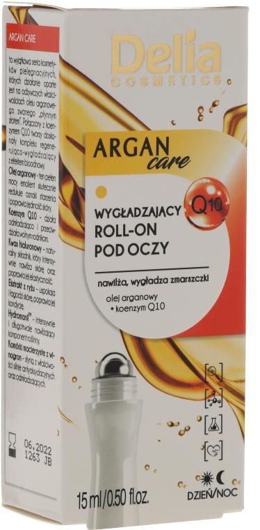 Guľôčkový gél s arganovým olejom na pokožku okolo očí - Delia Argan Care Under Eye Roll-On Wrinkles Smoother