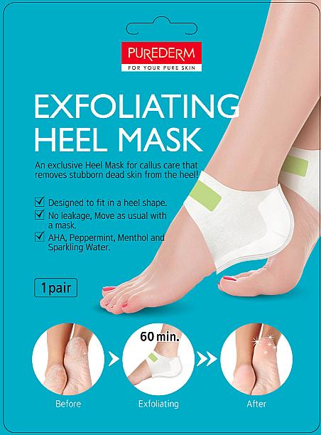 Peelingová maska na päty - Purederm Exfolaiting Heel Mask