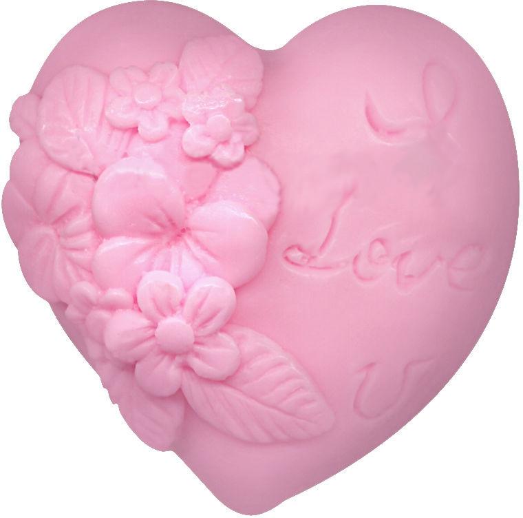 """Glycerínové mydlo """"Srdce v láske"""",ružové - Bulgarian Rose Soap — Obrázky N1"""