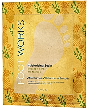 Voňavky, Parfémy, kozmetika Hydratačná maska na nohy s ananásom a čajovníkom - Avon Foot Works Mask For Legs