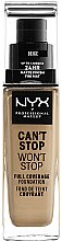Voňavky, Parfémy, kozmetika Tonálny základ - NYX Professional Makeup Can't Stop Won't Stop Full Coverage Foundation