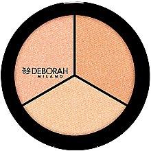 """Voňavky, Parfémy, kozmetika Rozjasňovač na tvár """"Trio"""" - Deborah Highlighter Trio Palette"""