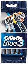 Voňavky, Parfémy, kozmetika Sada jednorazových holiacich strojčekov, 4ks - Gillette Blue 3