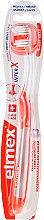 Voňavky, Parfémy, kozmetika Mäkká zubná kefka, priehľadná s oranžovou farbou - Elmex Toothbrush Caries Protection InterX Soft Short Head