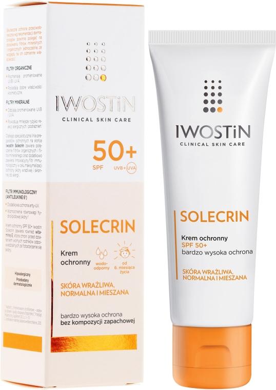 Opaľovací krém - Iwostin Solecrin Lucidin Protective Cream SPF 50+
