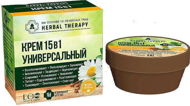 "Krém ""Univerzálny"" 15 v 1 na báze 16 liečivých bylín - ECO Laboratorie Herbal Therapy — Obrázky N1"