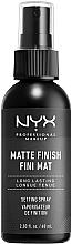 Voňavky, Parfémy, kozmetika Fixátor makeupu v spreji s matným finišom - NYX Professional Makeup Matte Finish Long Lasting Setting Spray