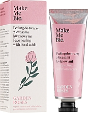 Voňavky, Parfémy, kozmetika Peeling na tvár kvetinovými kyselinami - Make Me Bio Garden Roses Face Peeling With Floral Acids