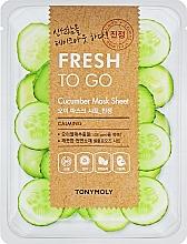 Voňavky, Parfémy, kozmetika Osviežujúca textilná maska s uhorkou - Tony Moly Fresh To Go Mask Sheet Cucumber