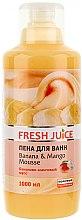 Voňavky, Parfémy, kozmetika Pena do kúpeľa - Fresh Juice Banana and Mango Mousse
