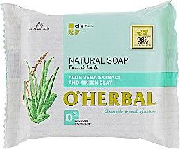 Voňavky, Parfémy, kozmetika Prírodné mydlo s extraktom aloe vera a zeleným ílom - O'Herbal Natural Soap