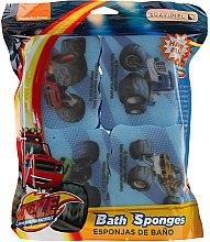 """Voňavky, Parfémy, kozmetika Sada špongií """"Blaze And The Monster Machines"""", 4 ks, svetlomodré - Suavipiel Bath Sponges Blaze And The Monster Machines"""