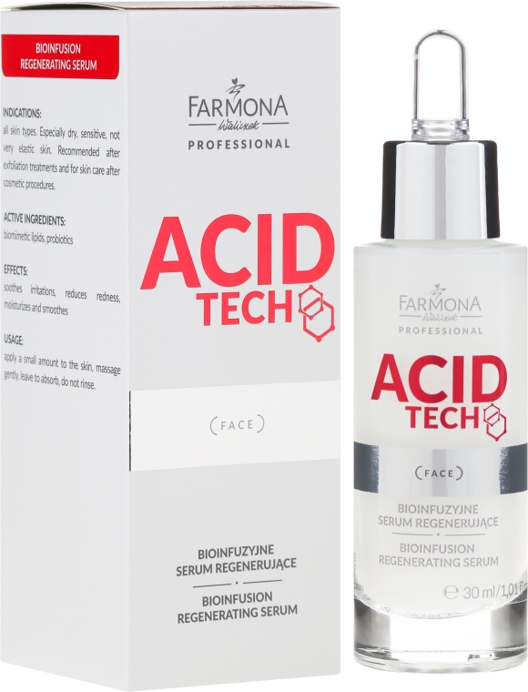 Bio-infúzne regenerujúce sérum - Farmona Professional Acid Tech Bio Infusion Regenerating Serum — Obrázky N1