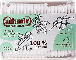 Voňavky, Parfémy, kozmetika Vatové tyčinky, 200 ks - Cashmir Natural Cotton Buds (krabica)