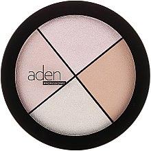 Voňavky, Parfémy, kozmetika Rozjasňovač na tvár - Aden Cosmetics Highlighter Palette
