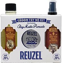 Voňavky, Parfémy, kozmetika Sada - Reuzel Clay Matte Try Me Kit (h/pomade/35g + h/tonic/100ml + shm/100ml)