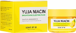 Voňavky, Parfémy, kozmetika Nočná vyrovnávacia tón maska na tvár - Some By Mi Yuja Niacin Brightening Sleeping