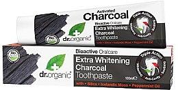 Voňavky, Parfémy, kozmetika Zubná pasta s aktívnym uhlím - Dr. Organic Extra Whitening Charcoal Toothpaste