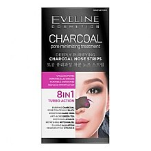 Voňavky, Parfémy, kozmetika Pásky na hlboké čistenie pokožky nosa - Eveline Cosmetics Charcoal Nose Strips