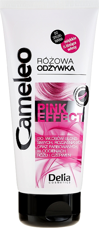 Intenzívne regeneračný kondicionér s ružovým odtieňom - Delia Cosmetics Cameleo Pink Effect