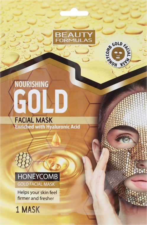 Výživná maska na tvár - Beauty Formulas Gold Norishing Facial Mask