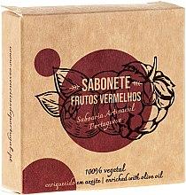 """Voňavky, Parfémy, kozmetika Prírodné mydlo """"Červené ovocie"""" - Essencias De Portugal Senses Red Fruits Soap With Olive Oil"""