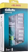 Voňavky, Parfémy, kozmetika Sada - Gillette Mach 3 (8 náhradných hlavíc + gel/200ml)
