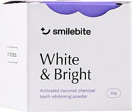 Voňavky, Parfémy, kozmetika Prášok na bielenie zubov s kokosovým uhlím - Smilebite White & Brigh Coconut Charcoal Teeth Whitening Powder