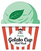 Voňavky, Parfémy, kozmetika Textilná maska na tvár - Dr. Mola Matcha Gelato Cup Sheet Mask