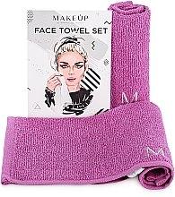 """Voňavky, Parfémy, kozmetika Cestovná sada uterákov na tvár, fialové """"MakeTravel"""" - Makeup Face Towel Set"""