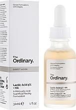 Voňavky, Parfémy, kozmetika Peelingové sérum na tvár s kyselinou mliečnou - The Ordinary Lactic Acid 5% + HA 2%