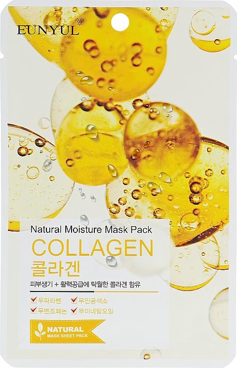 Hydratačná textilná maska s kolagénom - Eunyul Natural Moisture Mask Pack Collagen