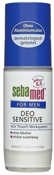 Guľôčkový balzamový dezodorant - Sebamed For Men Deo Sensetive Roll-On