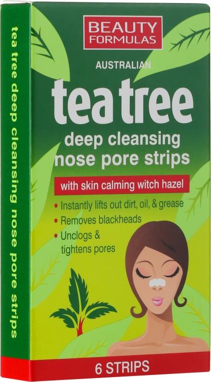 Čistiace prúžky na nos - Beauty Formulas Tea Tree Deep Cleansing Nose Pore Strips