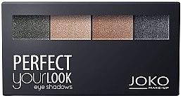 Voňavky, Parfémy, kozmetika Očné tienna viečka e štvorfarebné - Joko Perfect Your Look Quattro Eye Shadows New