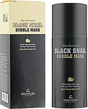 Voňavky, Parfémy, kozmetika Kyslíková maska so slimákom a dreveným uhlím - The Skin House Black Snail Bubble Mask